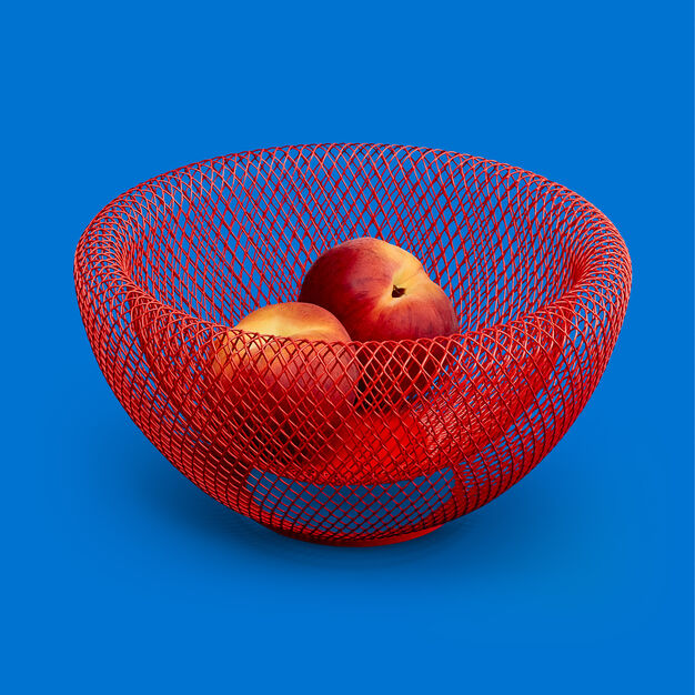 Wire Mesh Bowls in color Red