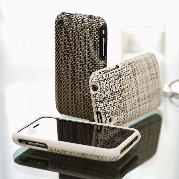 Light Gray  Chilewich iPhone 3GS 3G Case in color Brown