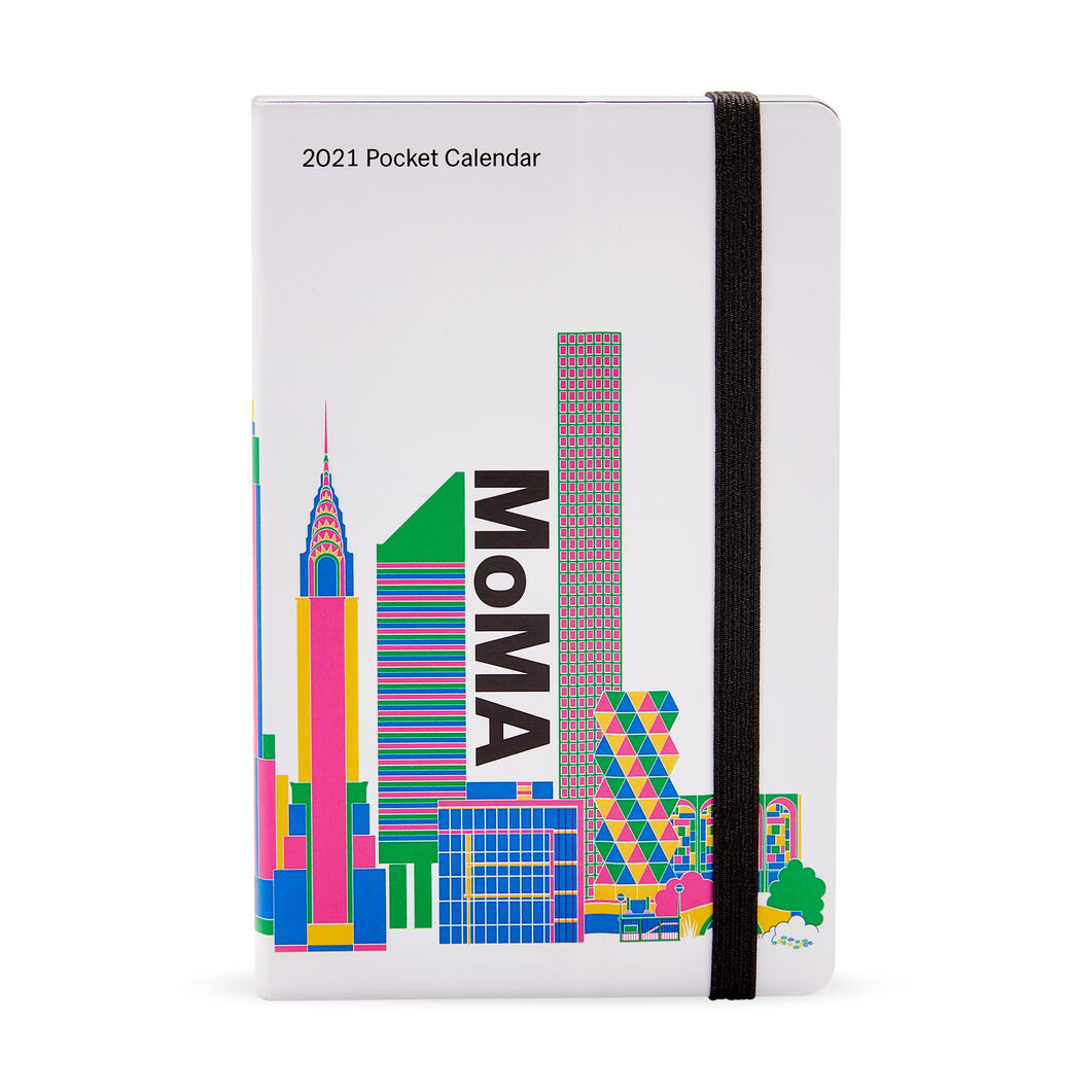 2021 MoMA Pocket Calendar in color Multi