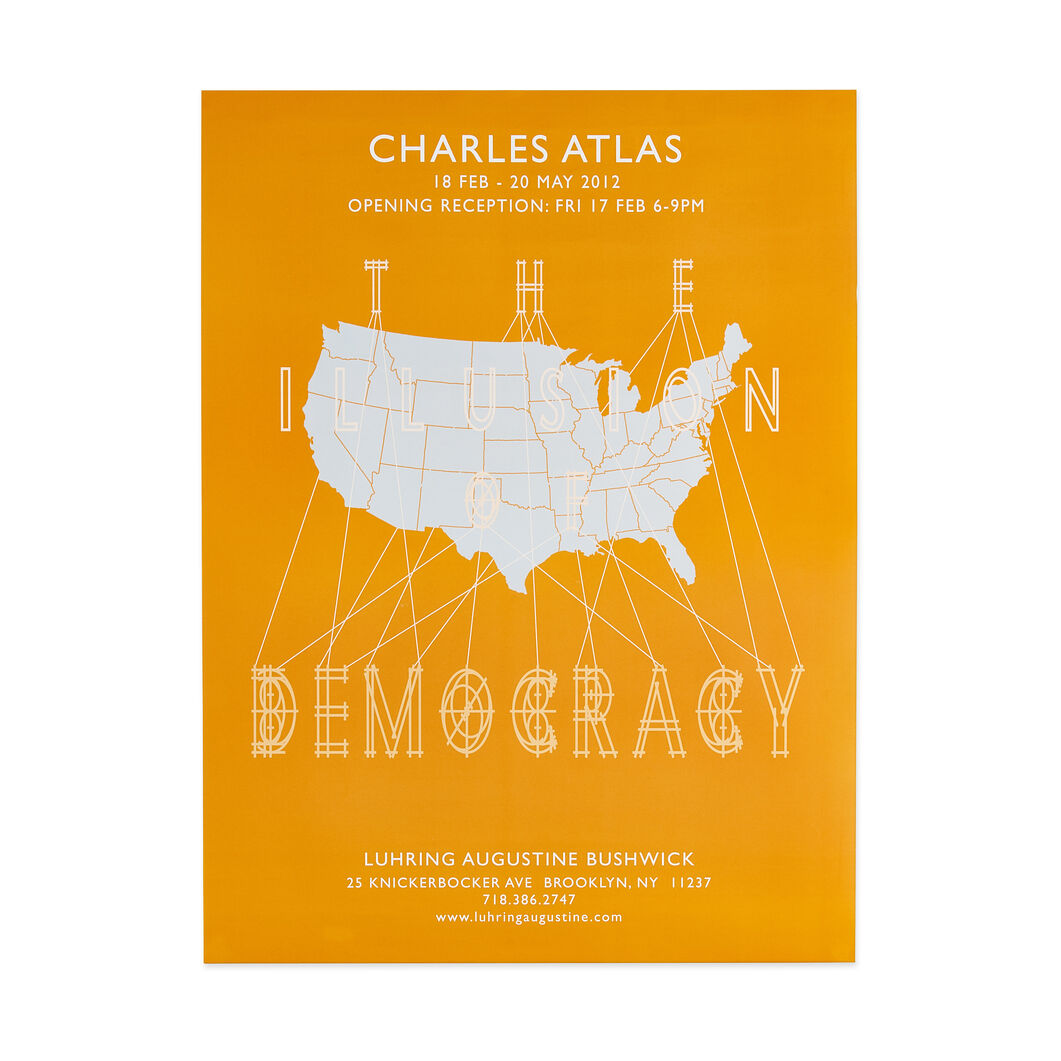 Charles Atlas: The Illusion of Democracy Poster in color