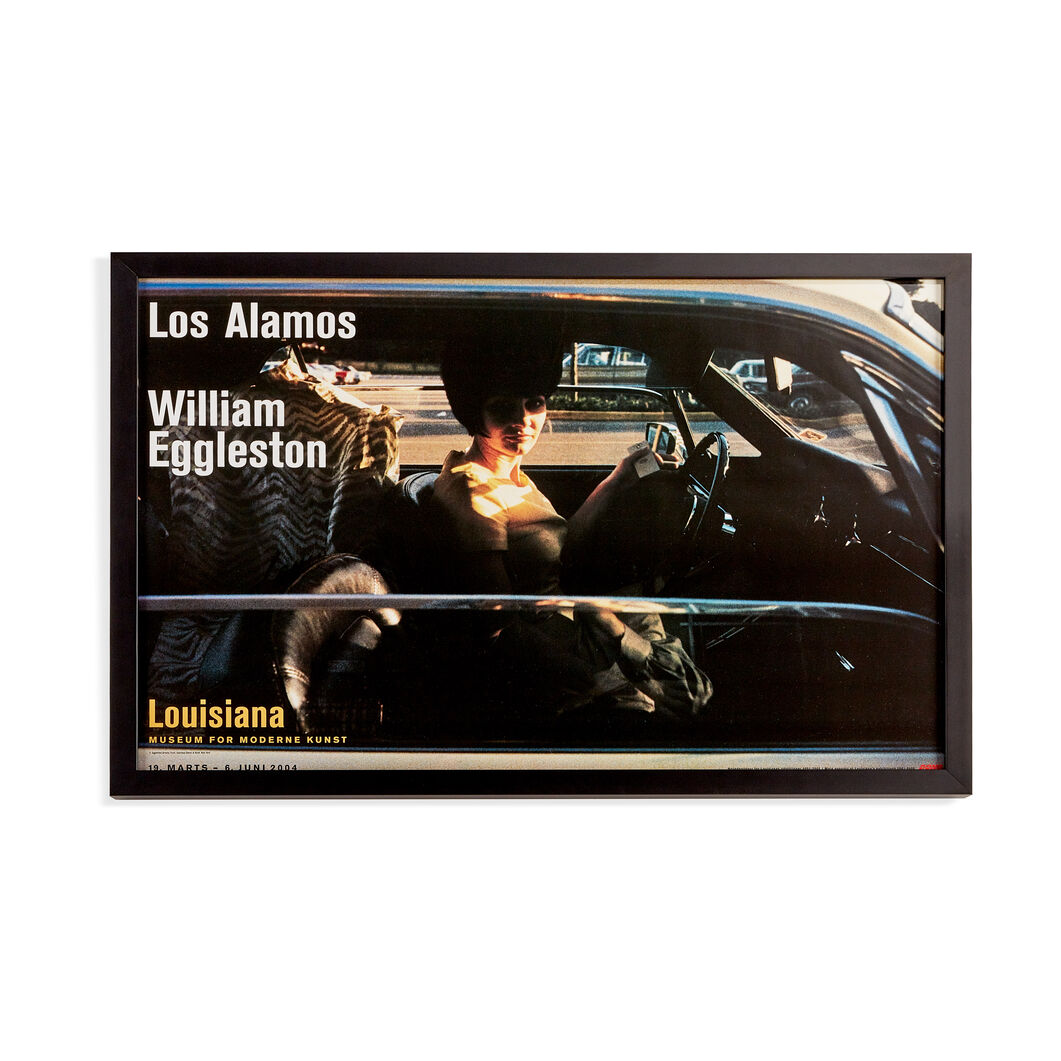 William Eggleston: Los Alamos - Woman in car Framed Poster in color