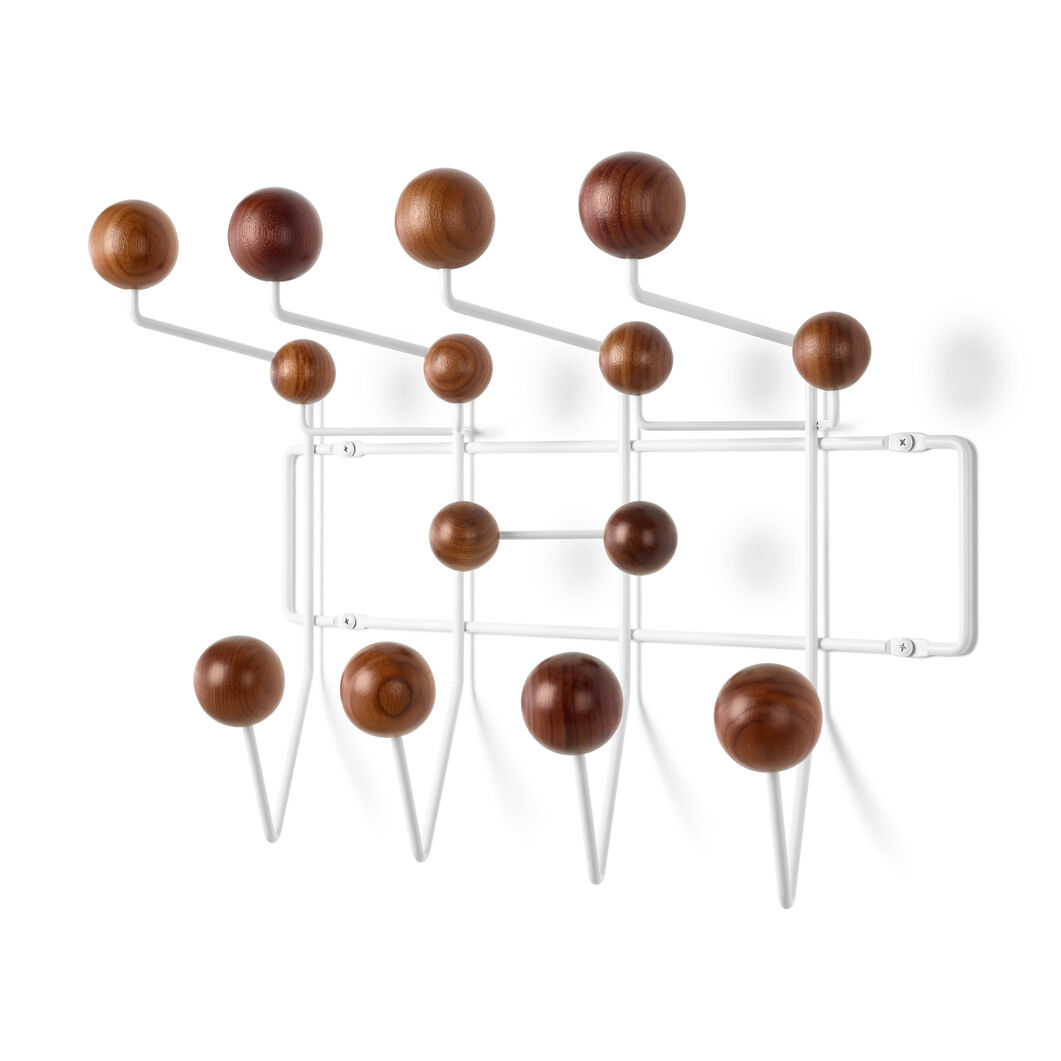Eames® Hang-It-All Coat Rack in color White/ Walnut
