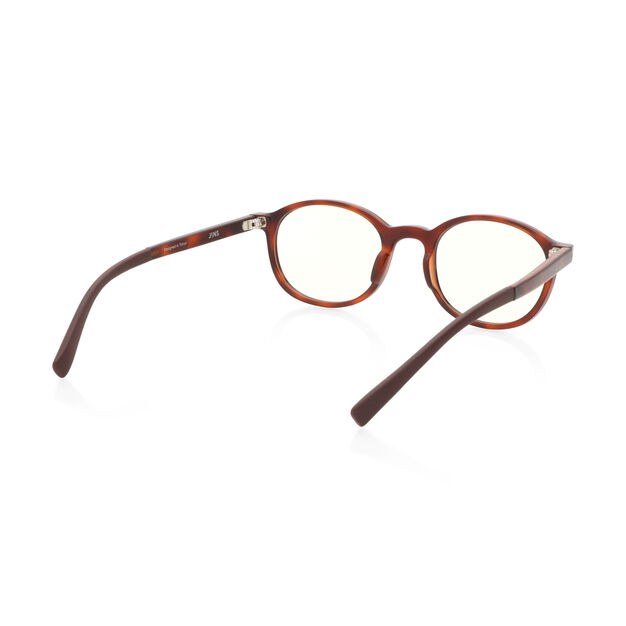 JINS Kids Boston Screen Glasses by Jasper Morrison in color Tortoise