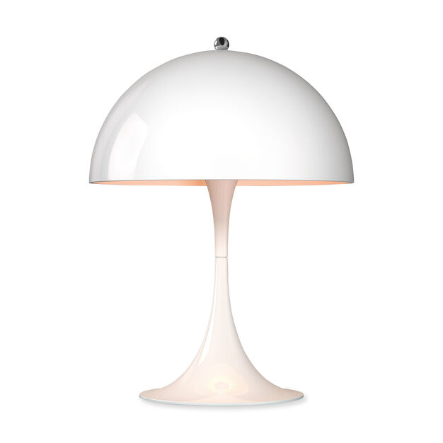 Panthella Mini Table Lamp in color White/ White