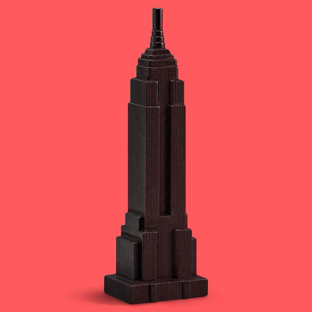 Graphite Empire State Building Sculpture in color