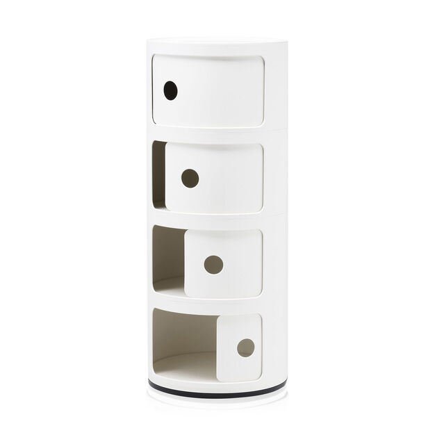 Componibili 4 Tier by Kartell in color White