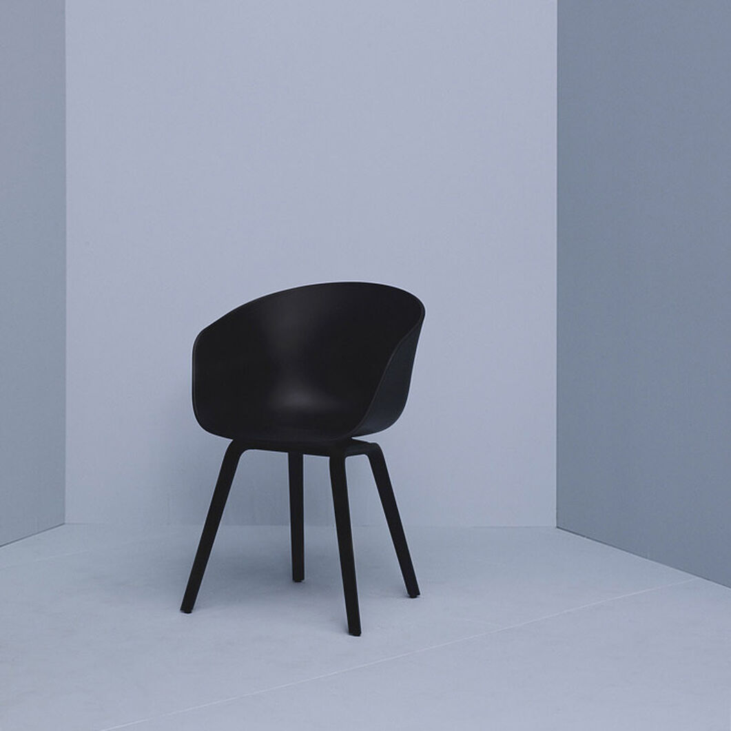 HAY About a Chair 22 in color Black/ Black Oak