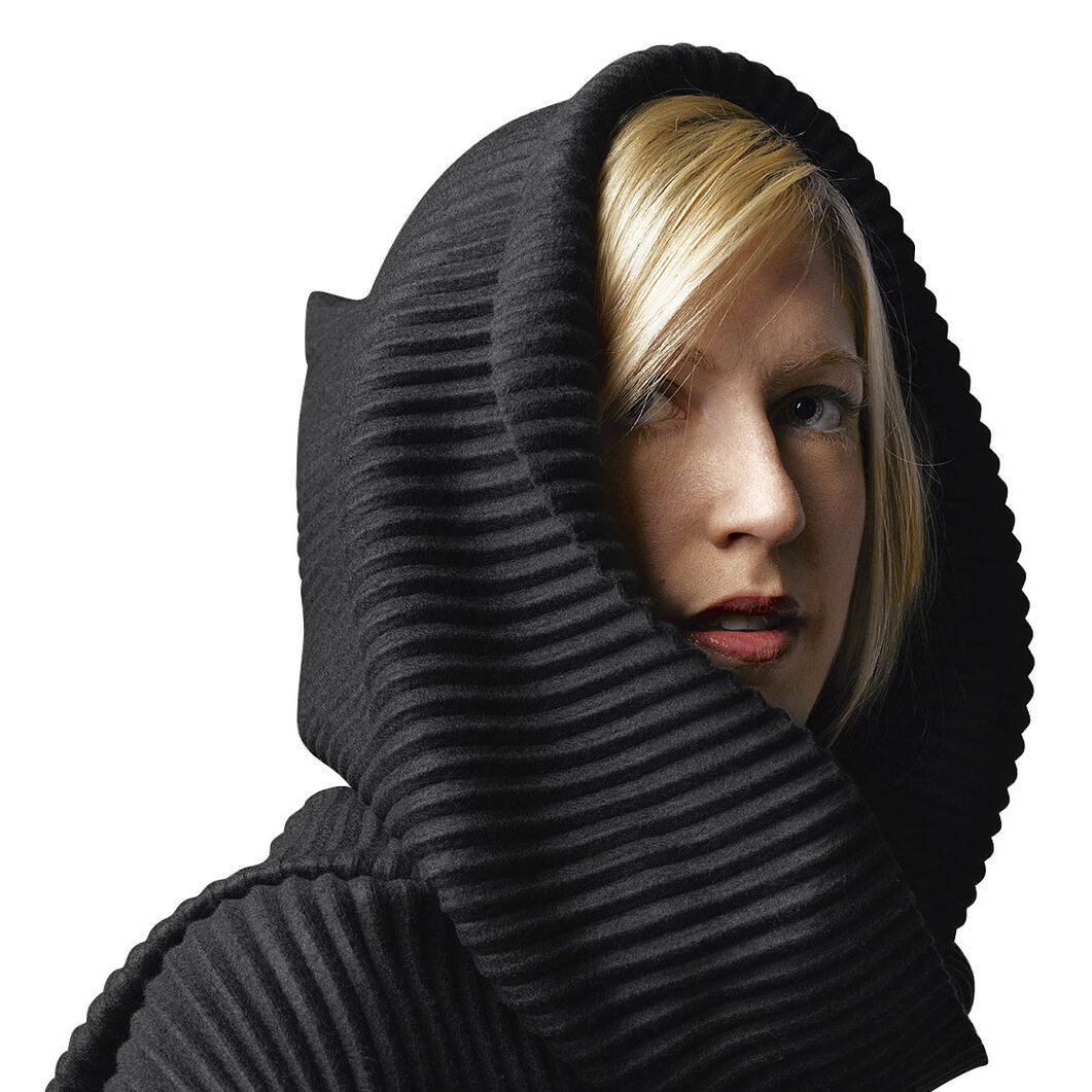 Fleece Hooded Scarf in color