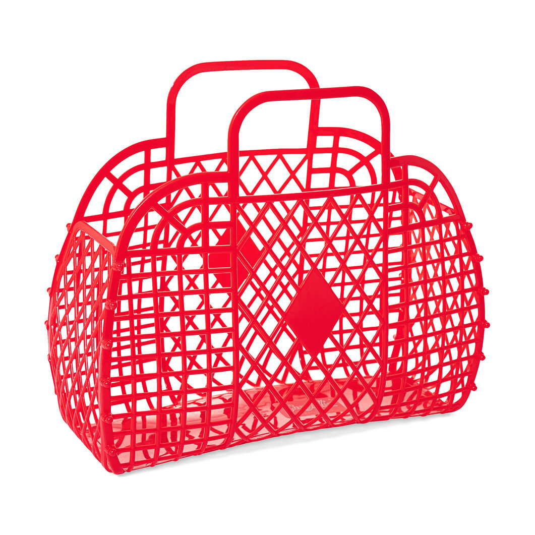 Retro Basket in color Red