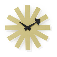 George Nelson Asterisk Wall Clock in color