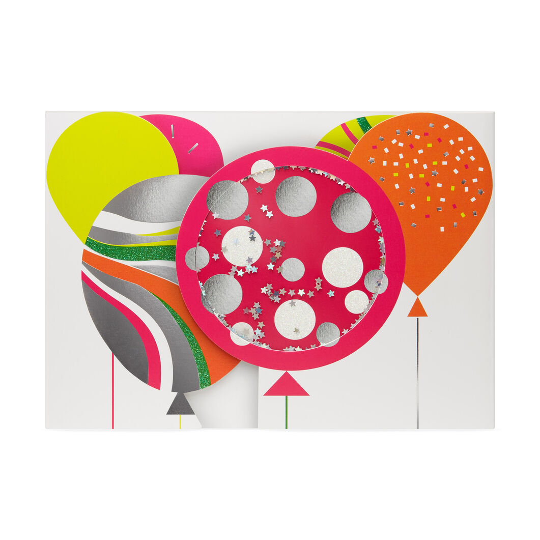 Cheerful Balloons Pop-Up Note Cards - Set of 6 in color