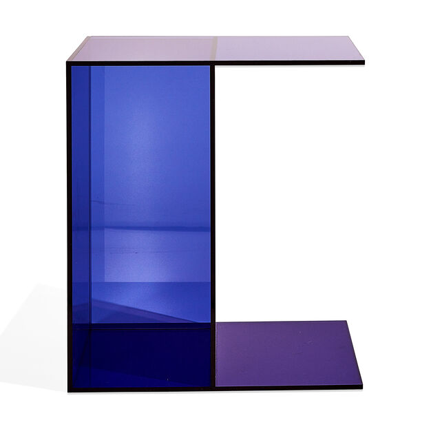 Two-Way Side Table in color Blue/ Pink