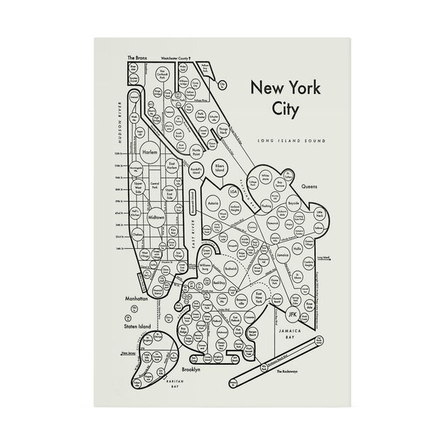 New York Map Black And White.New York Map Print Moma Design Store