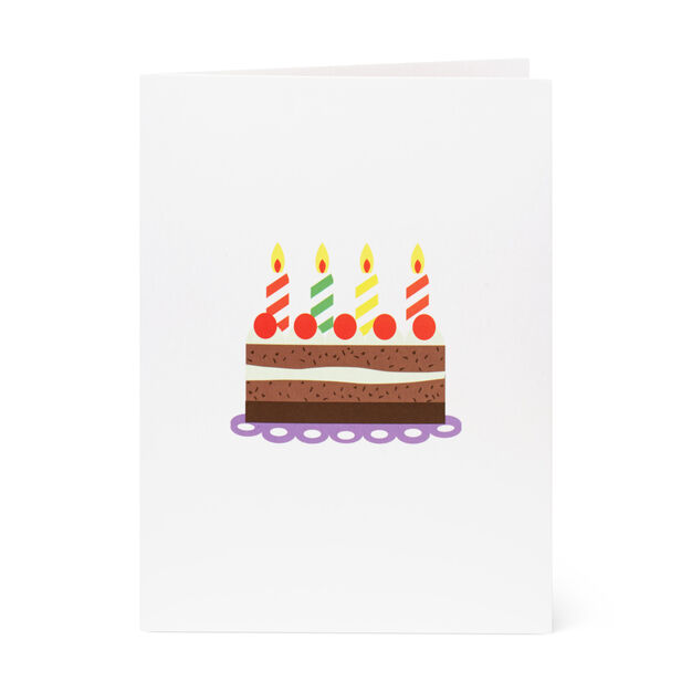 Pop-Up Cake Note Card in color