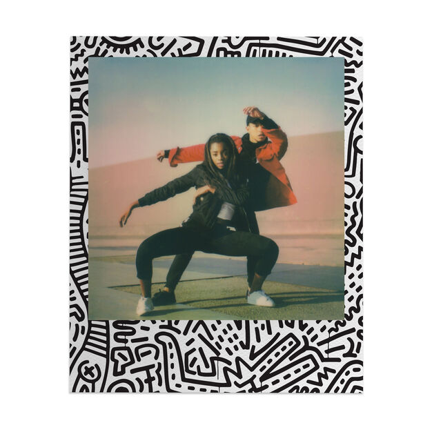 Keith Haring Edition Polaroid Now Camera & Film in color Red