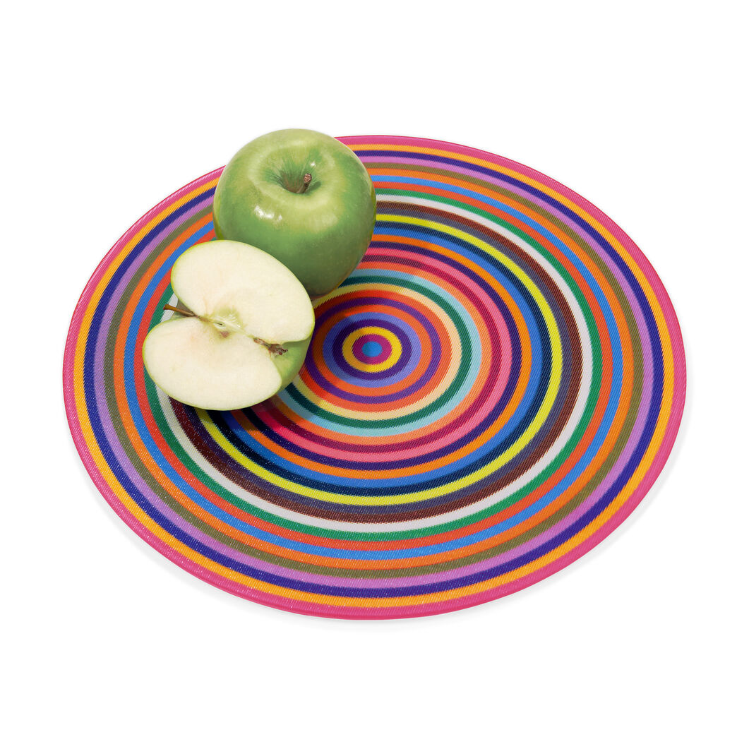 Colorful Rings Cutting Board in color