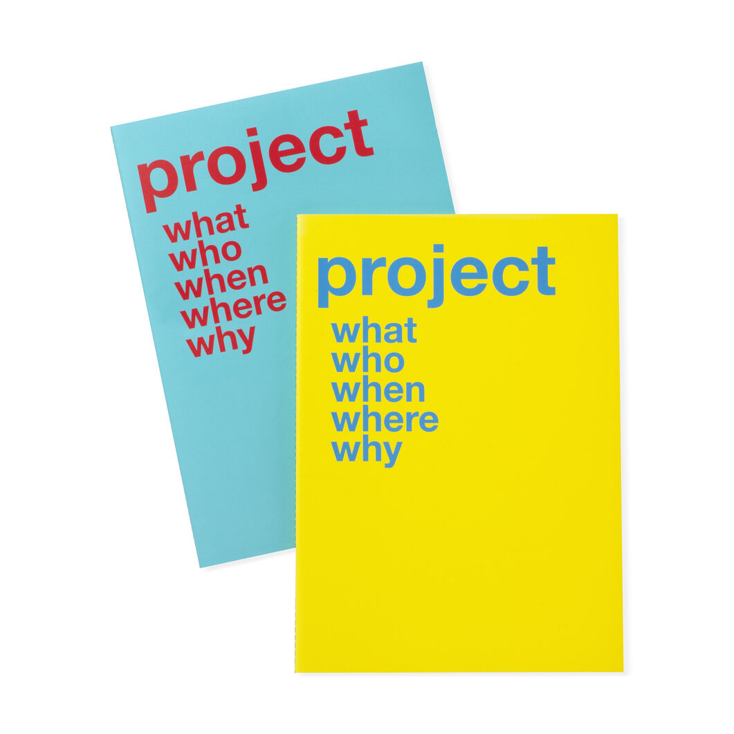 Yellow and Blue Project Notebooks in color Blue / Yellow