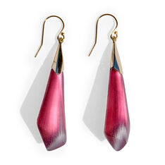 Alexis Bittar Faceted Wire Earrings in color Maroon