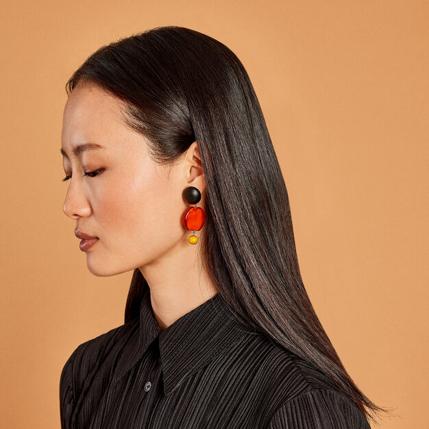 Murano Drop Earrings in color Red