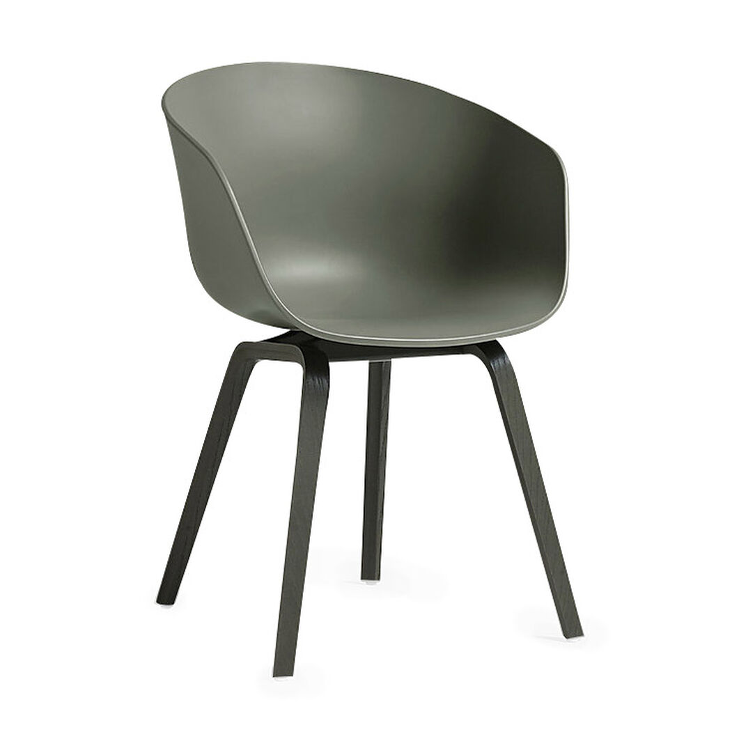 HAY About a Chair 22 in color Dusty Green/ Black Oak