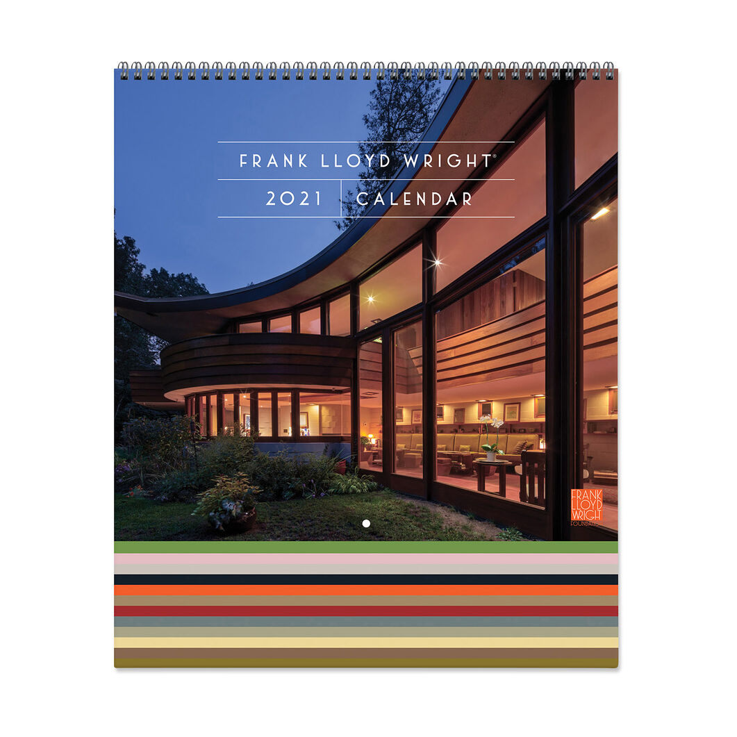 2021 Frank Lloyd Wright Tiered Wall Calendar in color