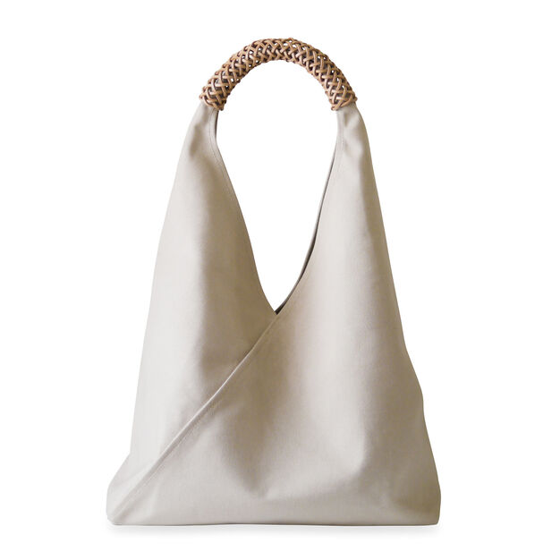 Woven Triangle Bag in color Ivory 3e64207805ef7