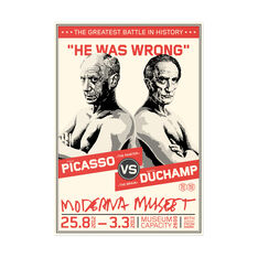 Picasso vs. Duchamp Poster in color