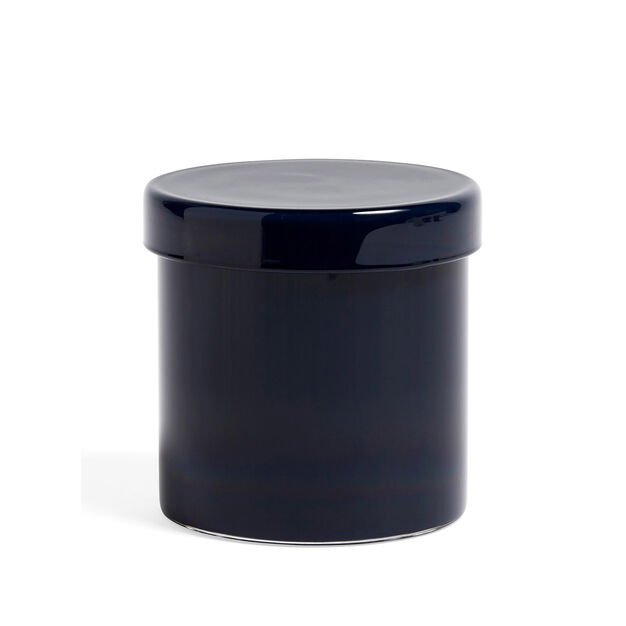 HAY Large Glass Containers in color Dark Blue
