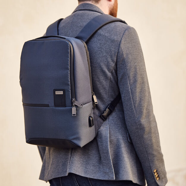 Lexon Double Track Backpack in color Blue