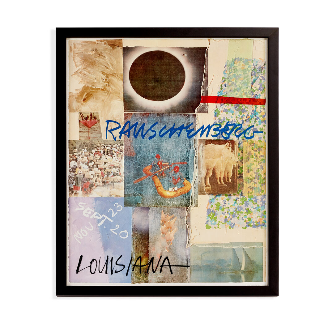Robert Rauschenberg: 1980 Louisiana Exhibition Framed Poster in color