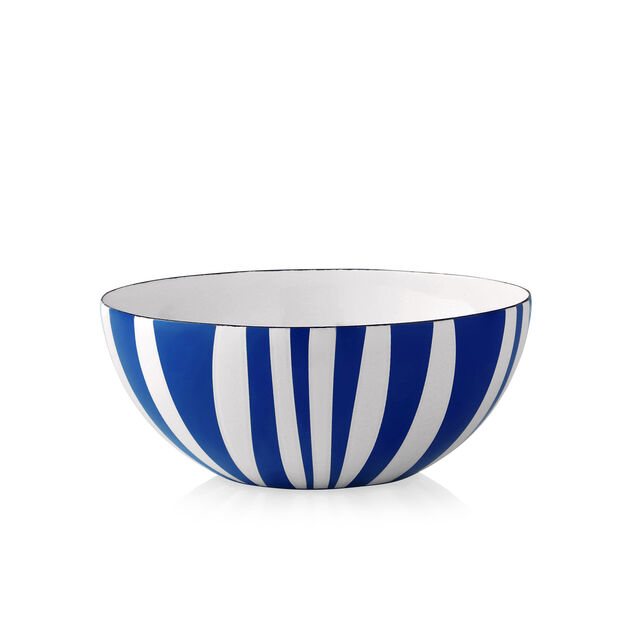 Medium Striped Bowls in color Blue