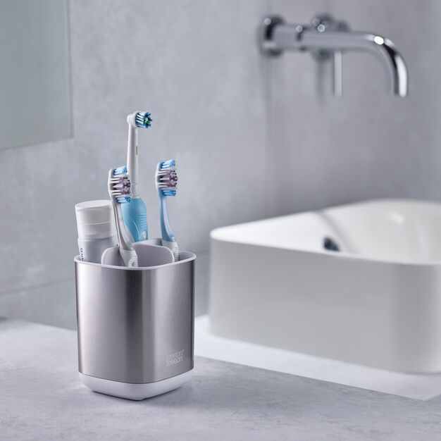 EasyStore Steel Toothbrush Caddy in color