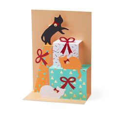 Festive Feline Holiday Cards - Set of 8 in color