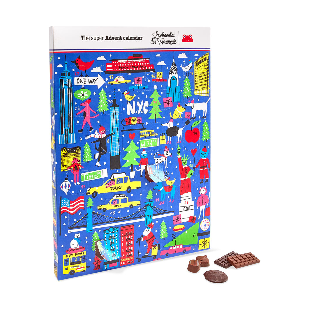 Le chocolat des Français Chocolate Advent Calendar in color