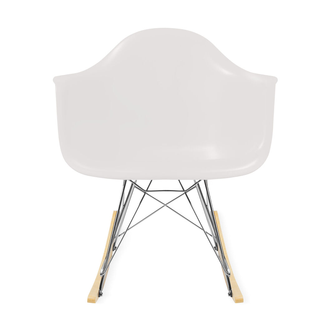 Eames® Molded Plastic Armchair Rocker (RAR) in color White
