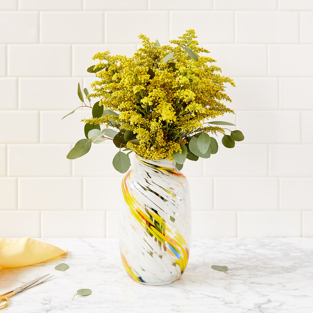 HAY Splash Glass Vase in color Lemon