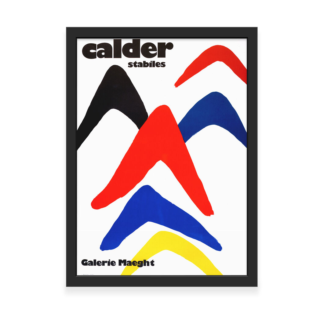 Calder: Stabiles Framed Print in color