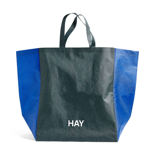 HAY Two-Tone Shopping Bag in color Green