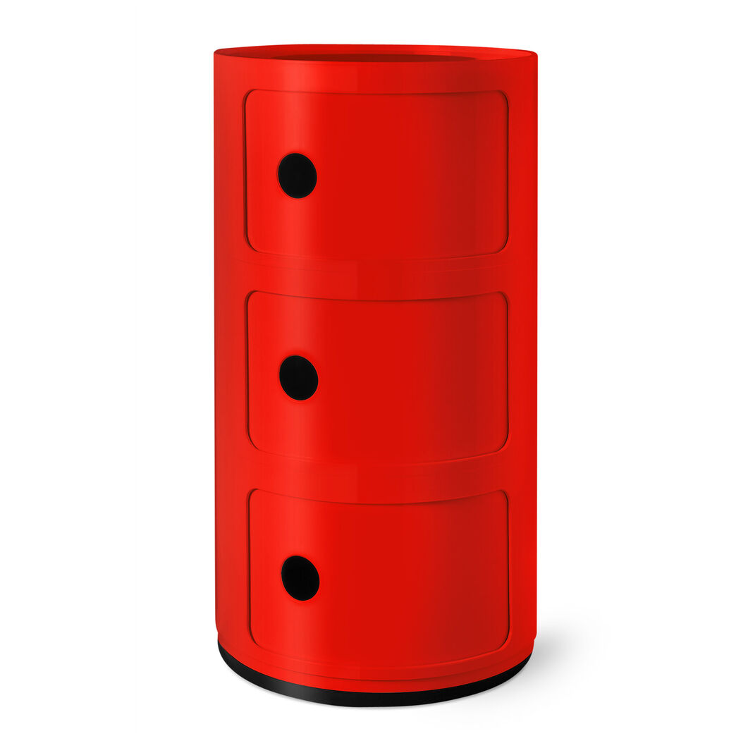 Kartell Componibili 3 Tier Storage in color Red