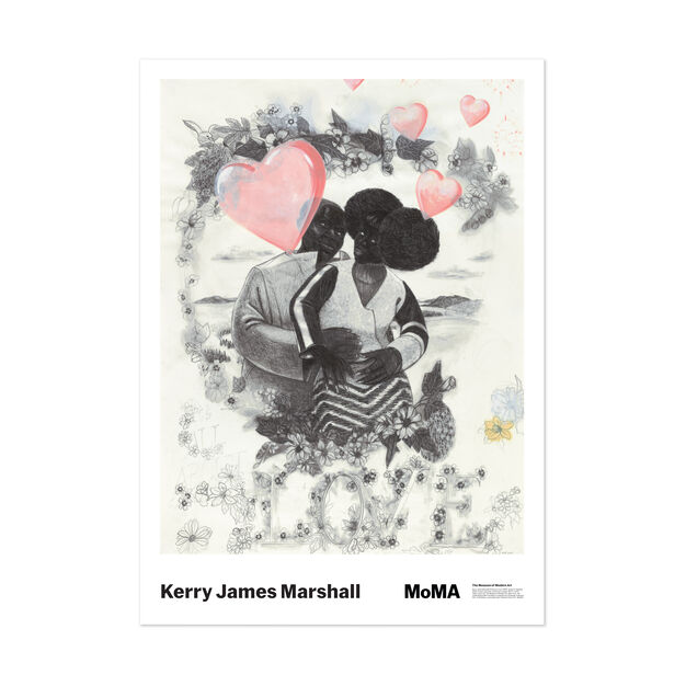 Kerry James Marshall: Study for Vignette Poster in color