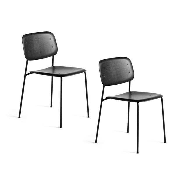 HAY Soft Edge Chair 10 - Set of 2 in color Black Oak/ Black