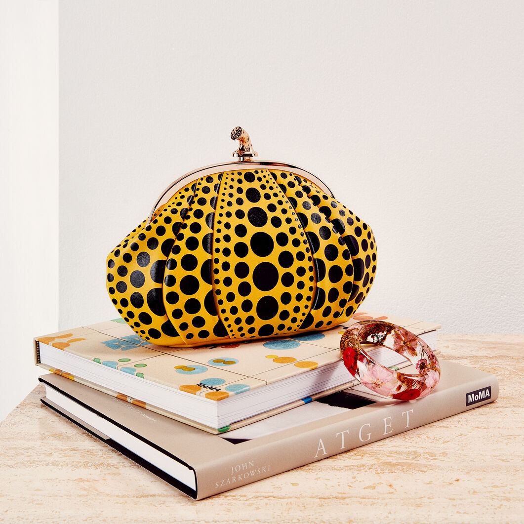 Yayoi Kusama Pumpkin Clutch in color