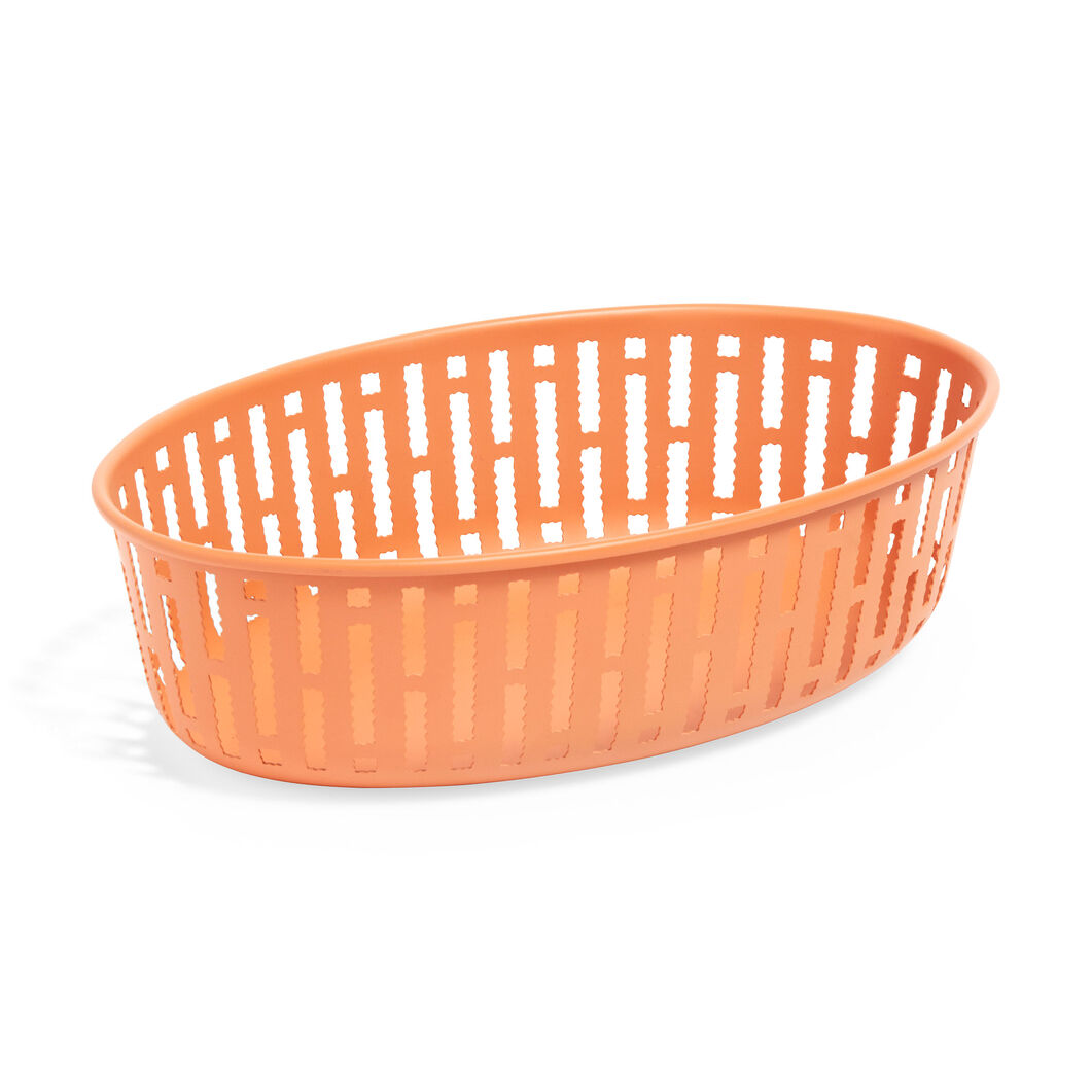HAY Panier Steel Bread Basket - Oval in color Rust