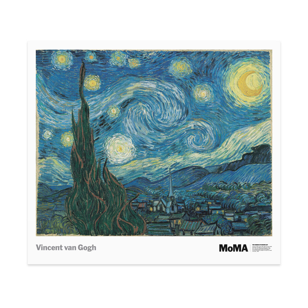 Van Gogh: The Starry Night in color