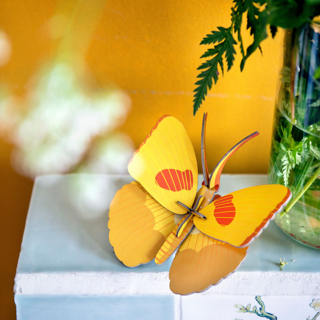 3D DIY Decorative Insects in color Yellow Butterfly
