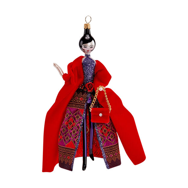 Woman in Haute Couture Holiday Ornament in color