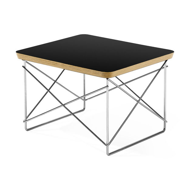 Black Wire Base Table in color Black
