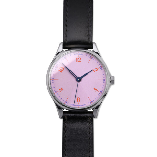 anOrdain Model 1 Watch - Pink Dial in color Black Shell