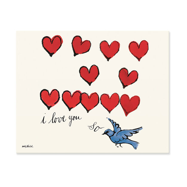Warhol: I Love You So Matted Print in color