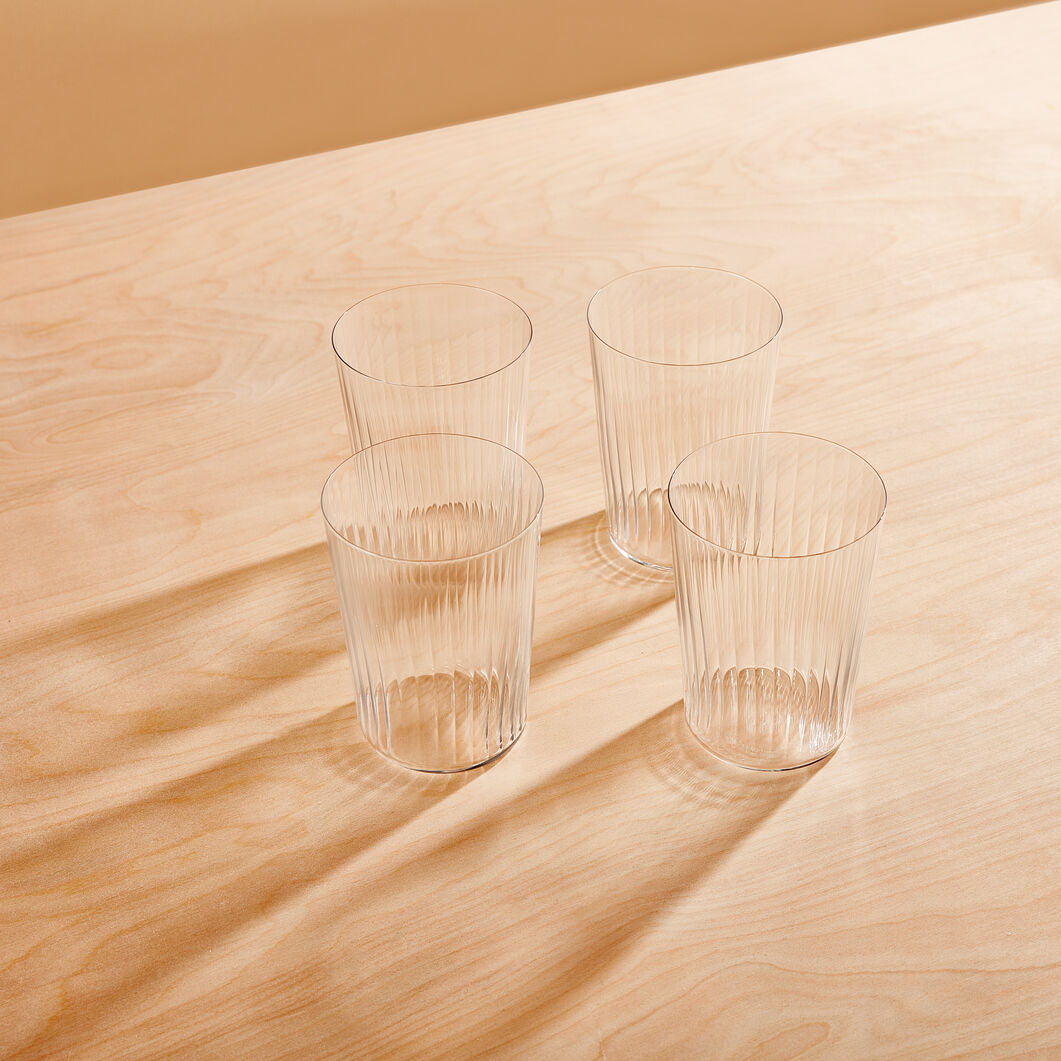 Gio Line Tumblers - Set of 4 in color Transparent